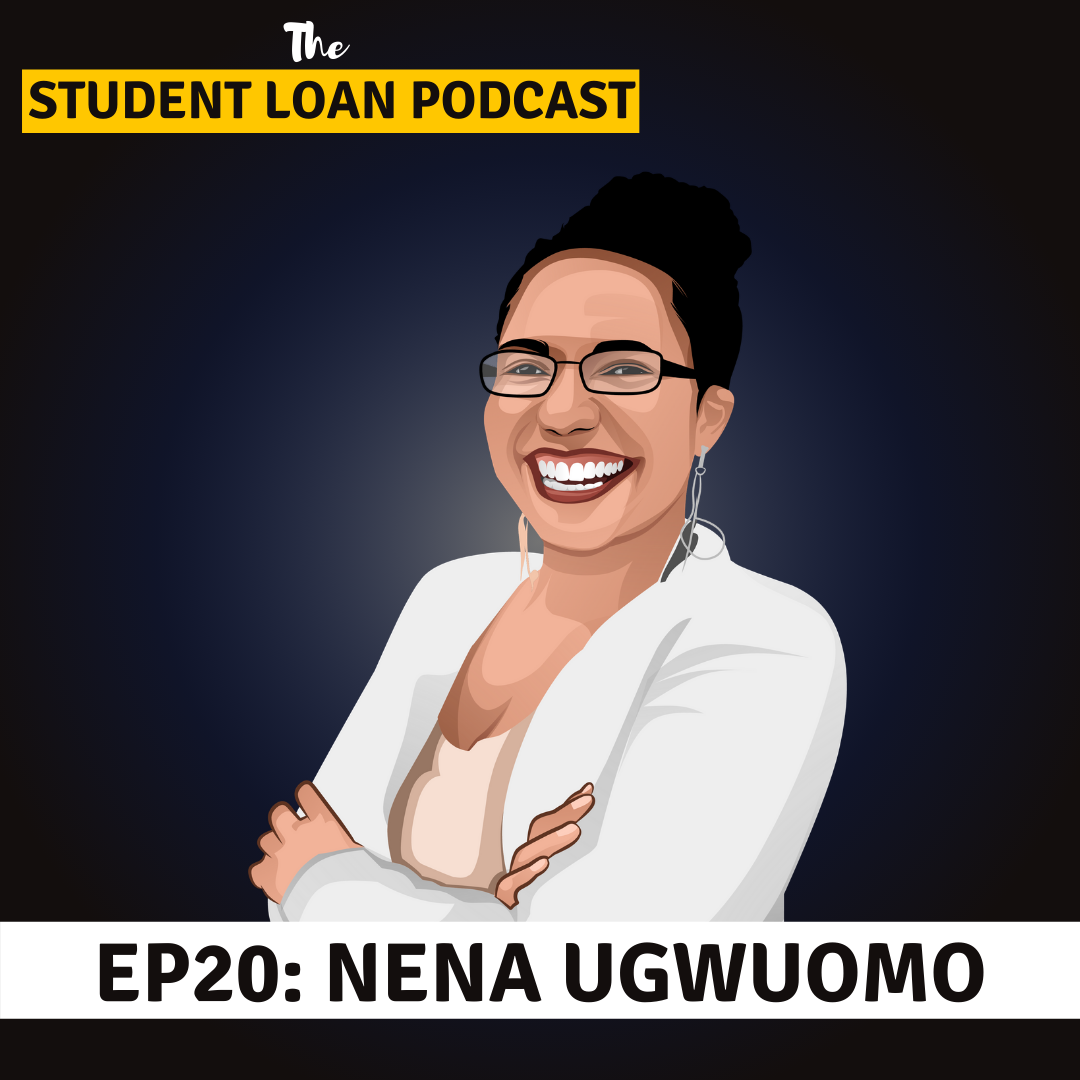 Cartoon Graphic of Nena Ugwuomo for Episode 20 of the Student Loan Podcast