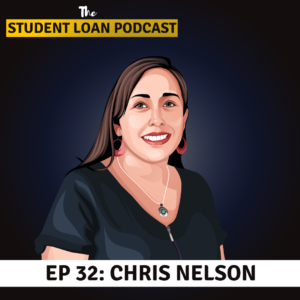 Cartoon Graphic of Chris Nelson for Episode 32 of the Student Loan Podcast