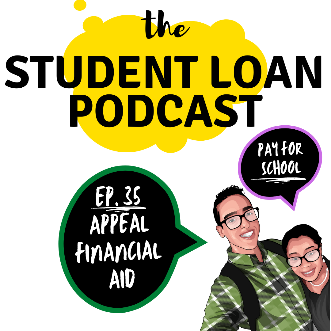 Cover Art of The Student Loan Podcast Co-hosts Daphné Vanessa and Shamil Rodriguez